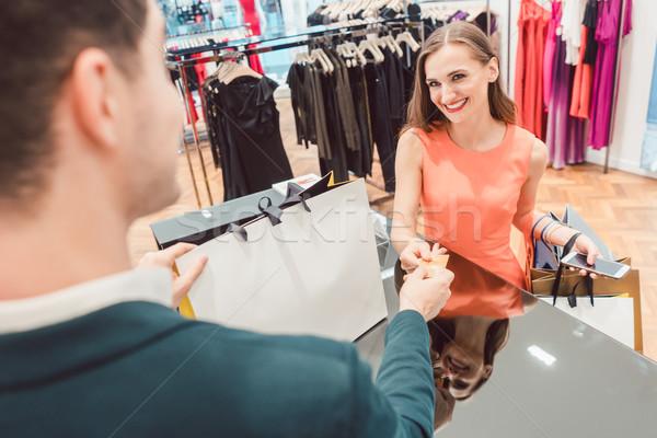 女性 買い ファッション ドレス ストア 話し ストックフォト © Kzenon