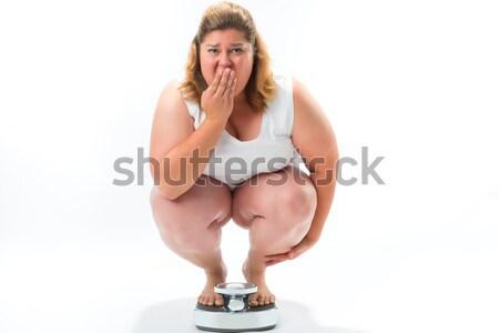 тучный масштаба диета веса Сток-фото © Kzenon