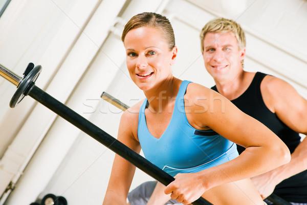Güç jimnastik çekici çift kız adam Stok fotoğraf © Kzenon