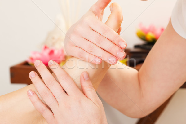 ног массаж Spa женщину девушки Сток-фото © Kzenon