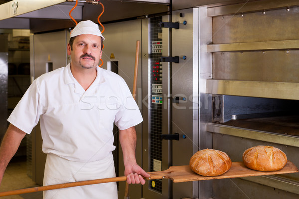 Male baker baking bread Stock photo © Kzenon