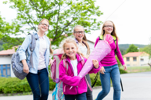 Group of students going back to school Stock photo © Kzenon
