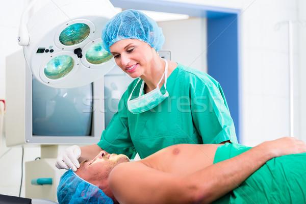 Stock fotó: Ortopéd · sebész · beteg · orvos · műtét · kórház