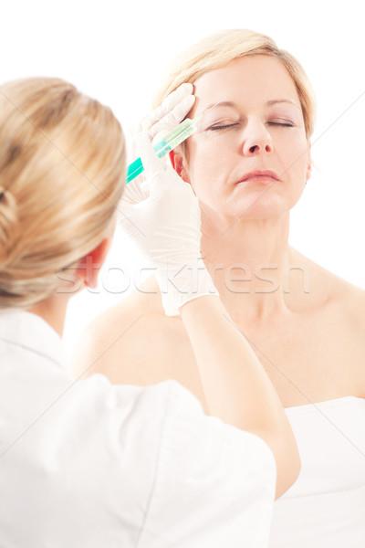 ボトックス 年齢 美 医師 女性 医療 ストックフォト © Kzenon