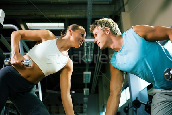 конкурентоспособный подготовки пару спортзал другой Сток-фото © Kzenon