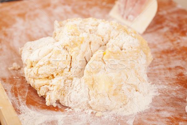 Sütés kekszek friss tojások édes cukor Stock fotó © Kzenon