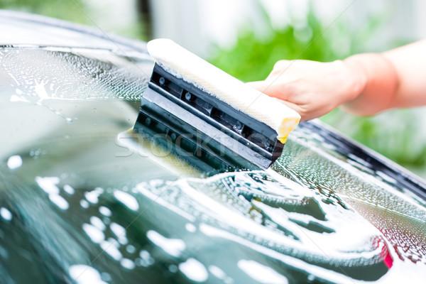 человека очистки автомойку дома стороны домой Сток-фото © Kzenon