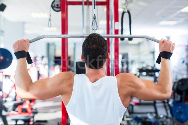 Uomo indietro sport formazione fitness palestra Foto d'archivio © Kzenon