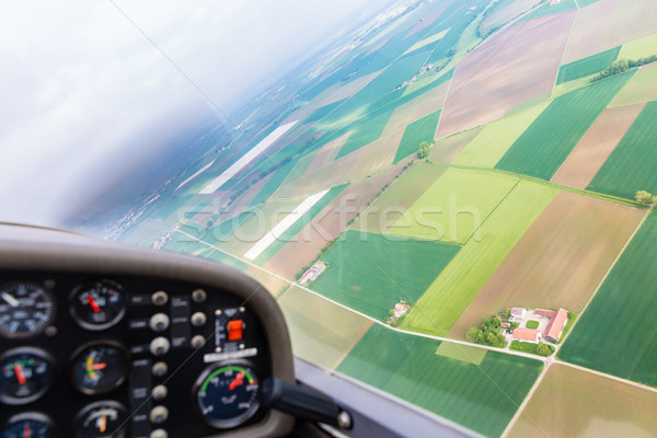 Navigational instruments of plane in dashboard Stock photo © Kzenon