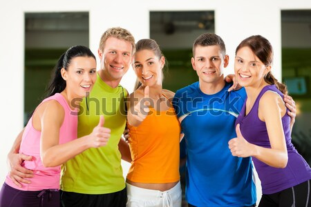 Fitness - Zumba dance workout in gym Stock photo © Kzenon