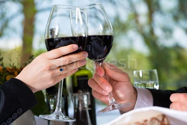 Сток-фото: обед · ресторан · бизнеса · Изысканные · ужины · женщину