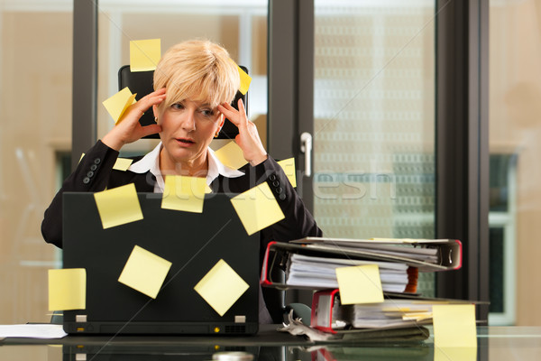 Stress in the office - multi tasking Stock photo © Kzenon