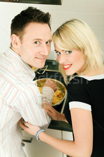 Ensemble cuisson cuisine maison Photo stock © Kzenon