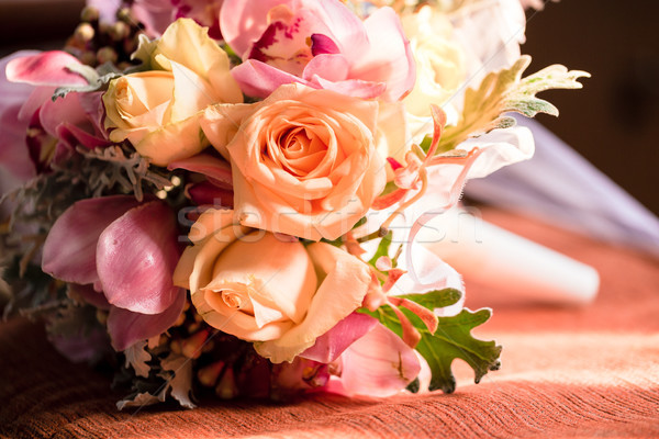 Wedding Flower bouquet in church Stock photo © Kzenon