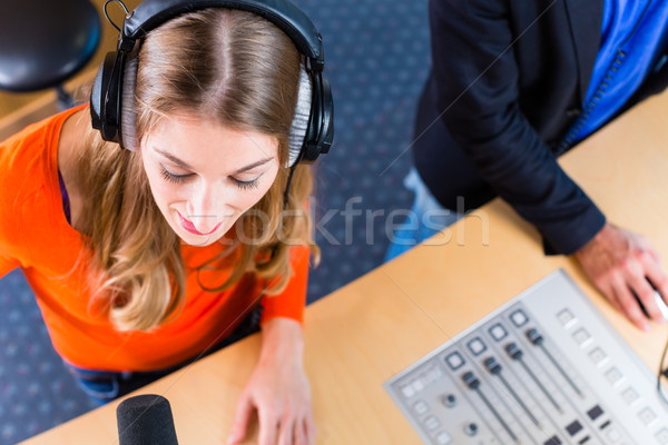 radio presenters in radio station on air Stock photo © Kzenon