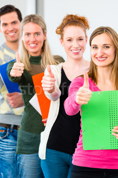 College students passed examination Stock photo © Kzenon