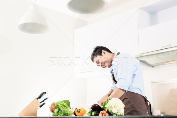 日本語 男 料理 食品 ミニマリスト キッチン ストックフォト © Kzenon