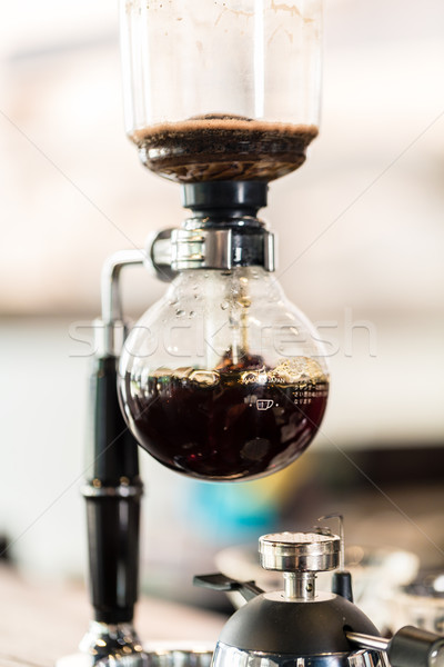 Drip coffee machine in super hip coffee shop Stock photo © Kzenon