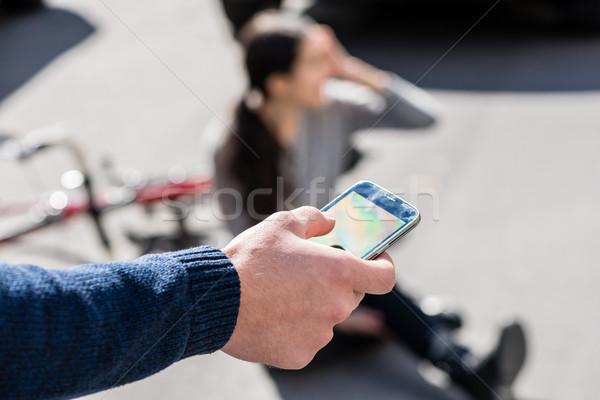 стороны человека призыв чрезвычайных числа раненый Сток-фото © Kzenon