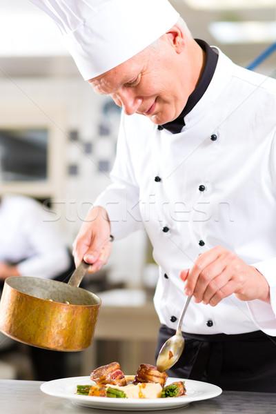Foto stock: Chef · restaurante · cocina · hotel · cocina