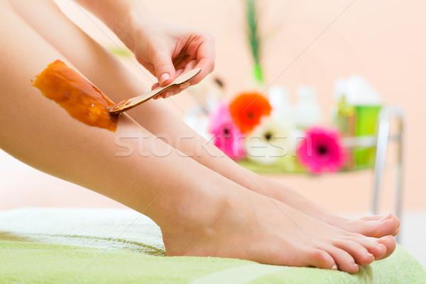 женщину Spa ногу волос удаление Сток-фото © Kzenon