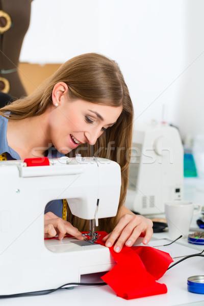 Moda disenador sastre de trabajo estudio Foto stock © Kzenon