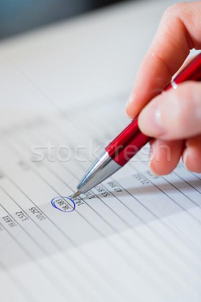 businesswoman working on a business plan  Stock photo © Kzenon