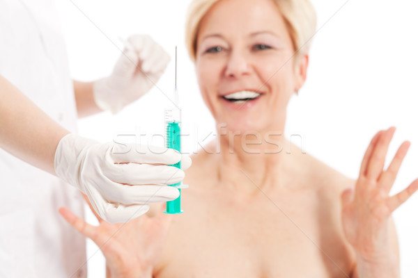 Botox - Age and beauty Stock photo © Kzenon