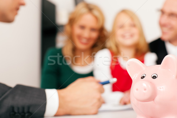 Photo stock: Famille · Finance · assurance · argent