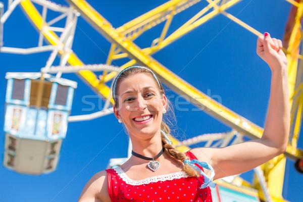 Mujer justo traje feliz diversión femenino Foto stock © Kzenon