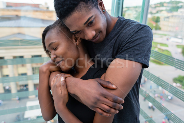 Portrait of young African American couple in love posing togethe Stock photo © Kzenon