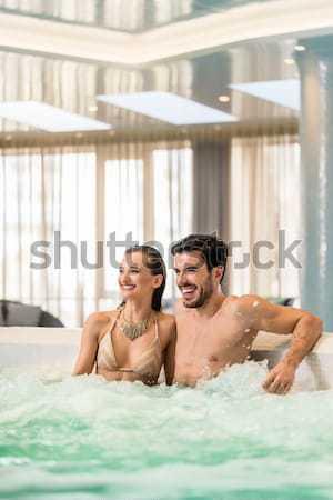 Stock fotó: Fiatal · boldog · pár · szeretet · megnyugtató · együtt