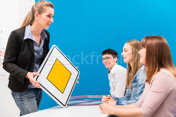 Theoretical lessons in driving school Stock photo © Kzenon
