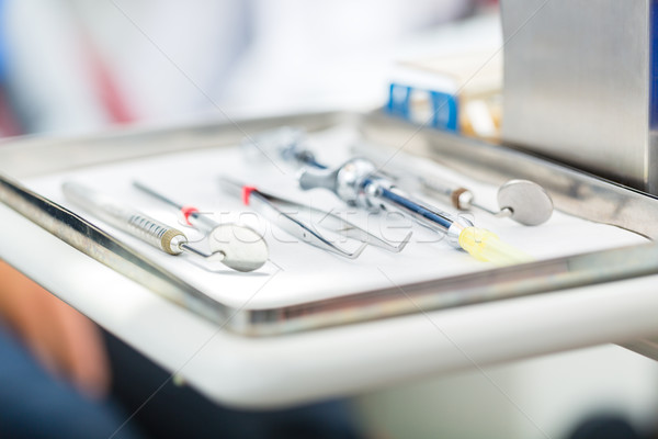 Sterile tools for dentist in practice Stock photo © Kzenon