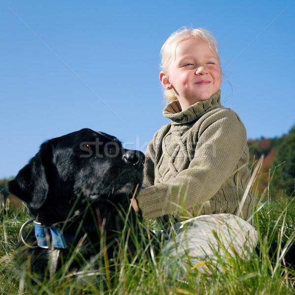Girl and Dog Stock photo © Kzenon