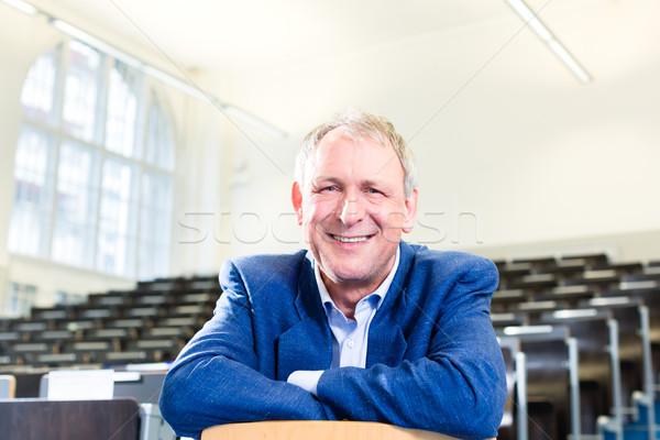 Stock photo: College professor in auditorium
