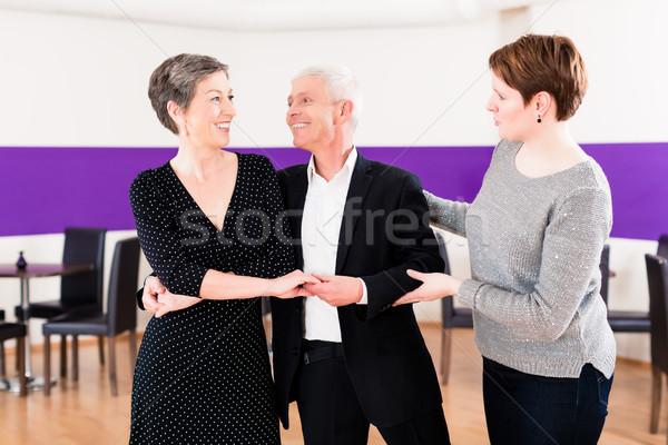Dance istruttore donna uomo Coppia Foto d'archivio © Kzenon