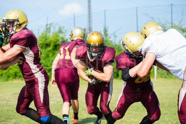 Defense after pass at American Football Game Stock photo © Kzenon