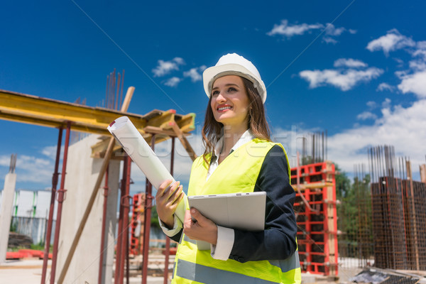 Portrait of a confident female architect or engineer with can-do attitude Stock photo © Kzenon