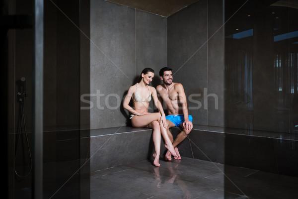 Amore seduta vapore bagno moderno Foto d'archivio © Kzenon