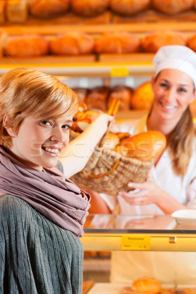 женщины клиентов хлебобулочные Бейкер Сток-фото © Kzenon