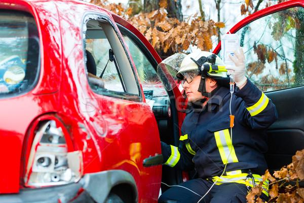 事故 火災 犠牲者 車 消防士 ツリー ストックフォト © Kzenon