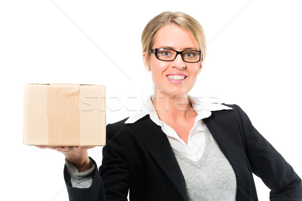 Young woman with a parcel Stock photo © Kzenon