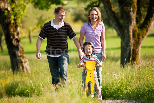 Family having a walk outdoors in summer Stock photo © Kzenon