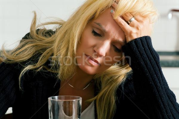 Сток-фото: депрессия · депрессия · печально · глядя · женщину