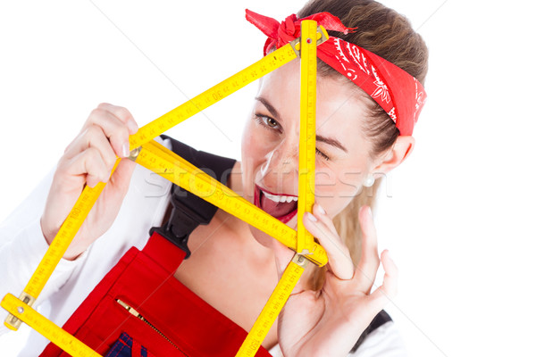 Woman having fun with home improvement  Stock photo © Kzenon