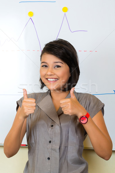 Indonésien femme d'affaires agence asian Creative Photo stock © Kzenon