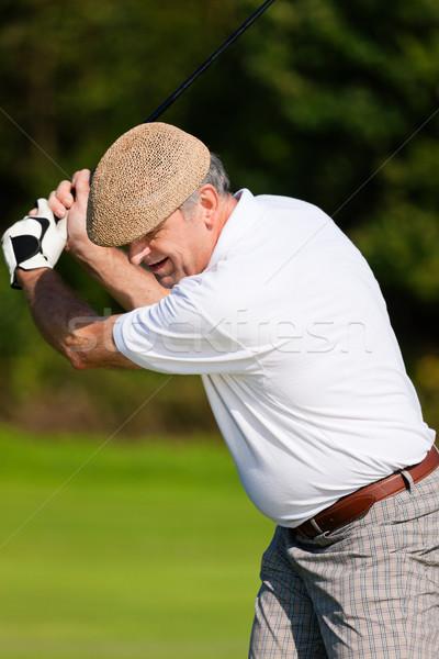 Senior jogador de golfe verão jogador de golfe torso golfe Foto stock © Kzenon