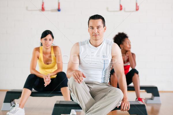 Having break from gym training Stock photo © Kzenon