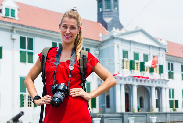 Tourist taking pictures sightseeing in Jakarta, Indonesia Stock photo © Kzenon
